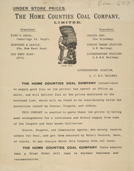 Advert for the Home Counties Coal Company Ltd 6918
